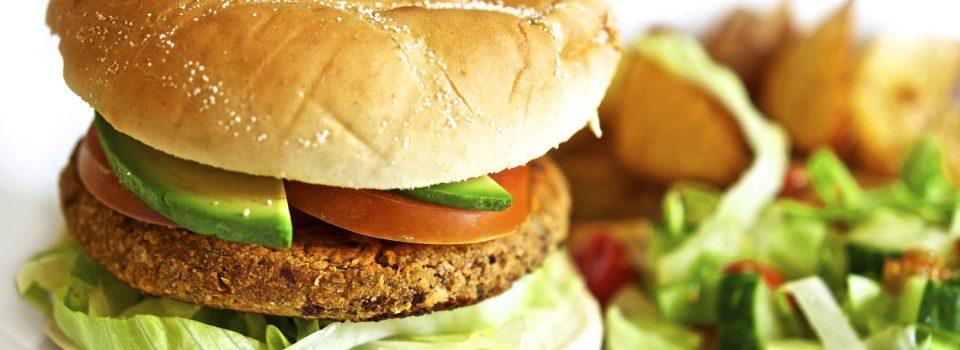 kikert- og valnøtt burger